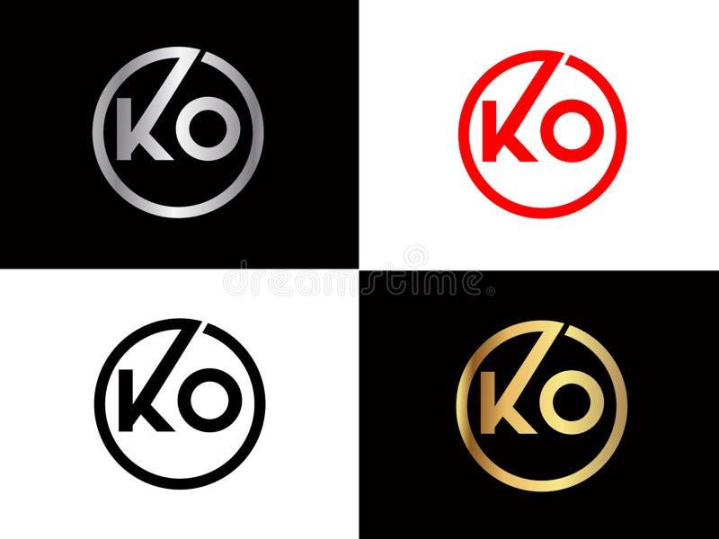 Diseño cuadrado del logotipo de la letra de la forma del knock-out en el color oro de plata libre illustration