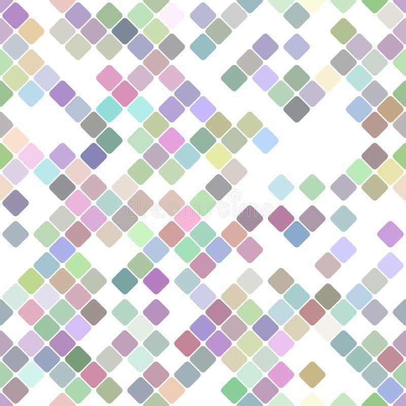 Diseño cuadrado diagonal de repetición colorido del fondo del modelo - gráfico de vector stock de ilustración