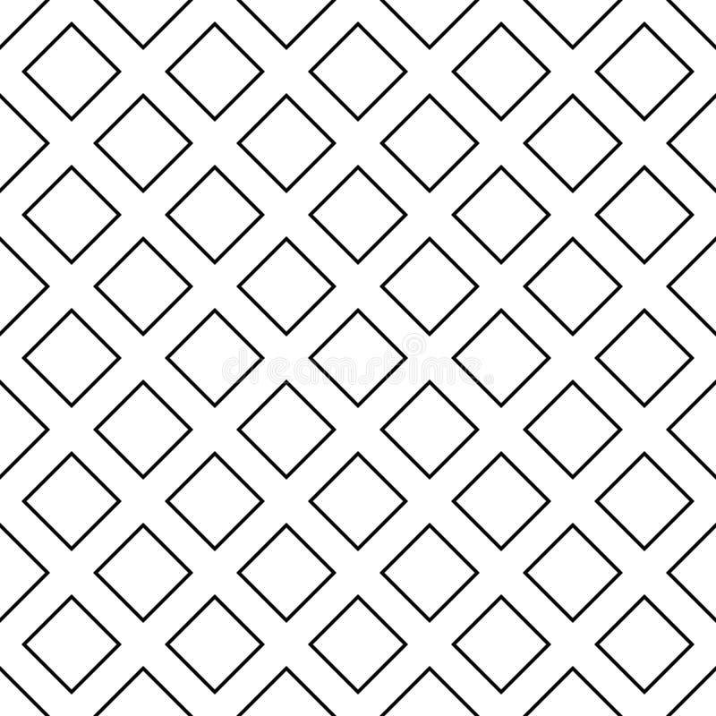 Diseño cuadrado diagonal monocromático abstracto inconsútil del fondo del modelo - ejemplo geométrico de semitono del vector ilustración del vector