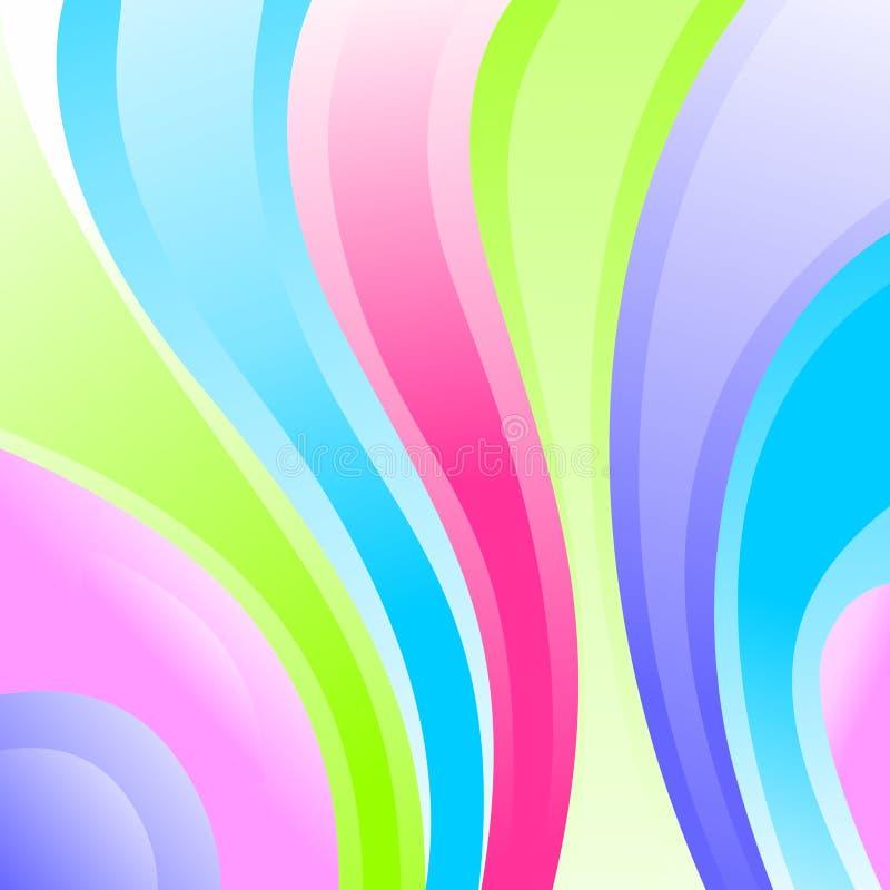 Diseño curvado colores multi del vector de las tiras ilustración del vector