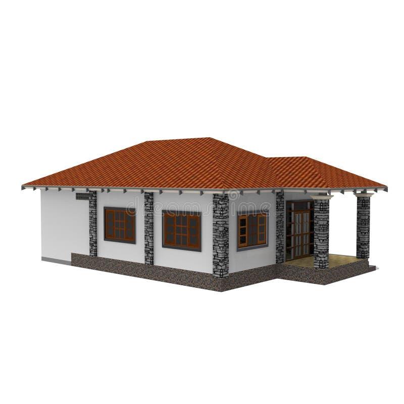 diseño 3D de espacio casero ilustración del vector