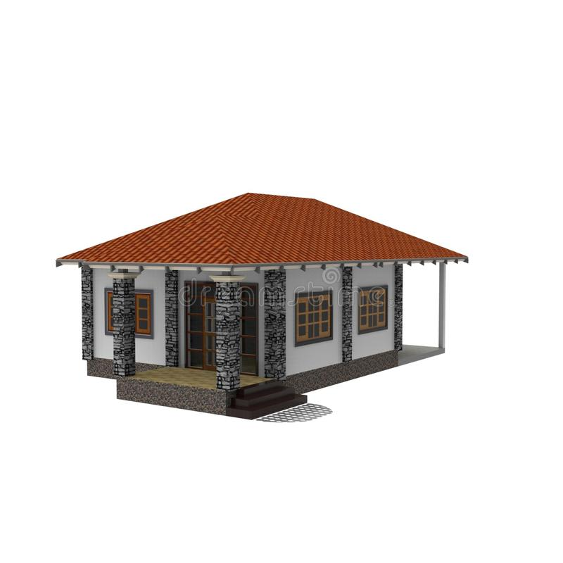 diseño 3D de espacio casero stock de ilustración