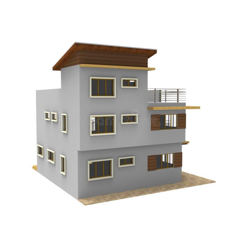 diseño 3D de espacio casero libre illustration