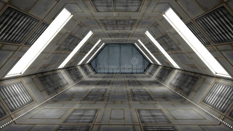 Interior futurista libre illustration