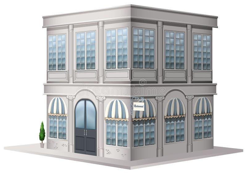 diseño 3D para construir en estilo del vintage stock de ilustración