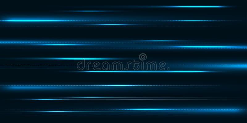Diseño de alta velocidad del movimiento De alta tecnología Fondo abstracto de la tecnología Ilustración del vector ilustración del vector