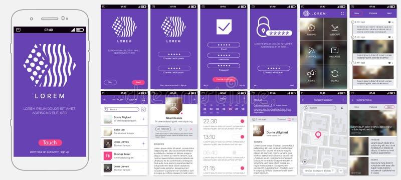 Diseño de app móvil, UI, UX, GUI libre illustration