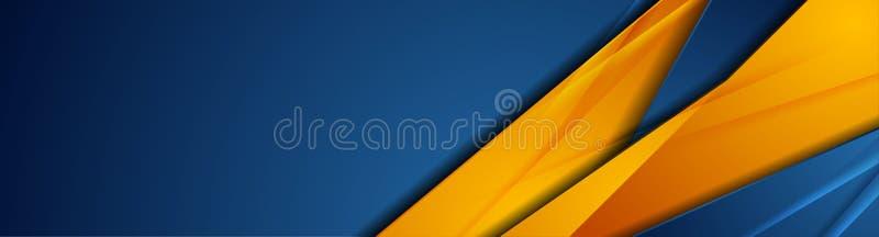 Diseño de banderín corporativo de tecnología abstracta de alto contraste en color naranja ilustración del vector