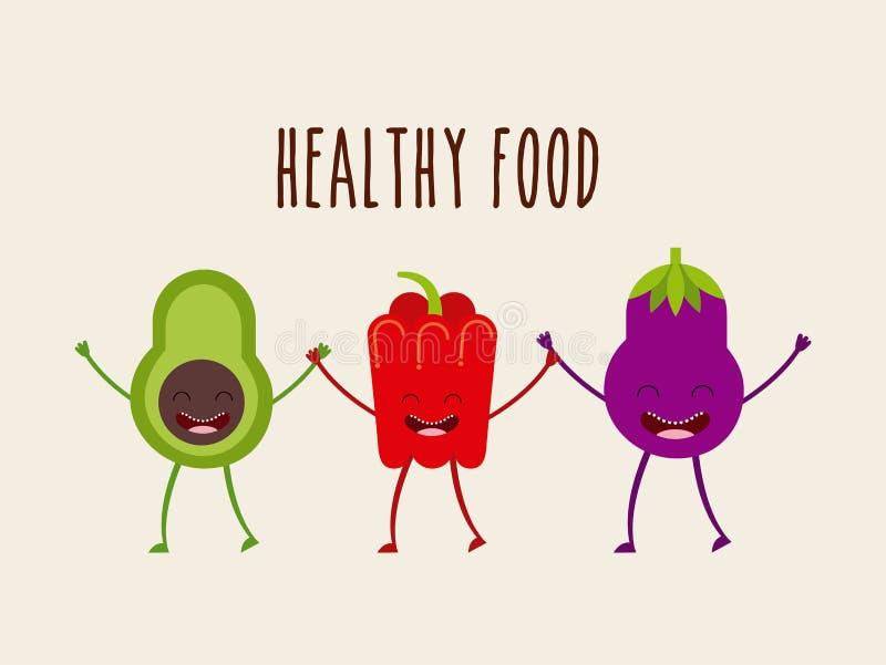 Diseño de carácter de la comida stock de ilustración