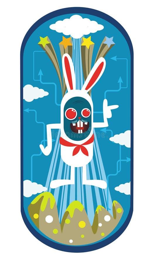 Diseño de carácter del conejo ilustración del vector