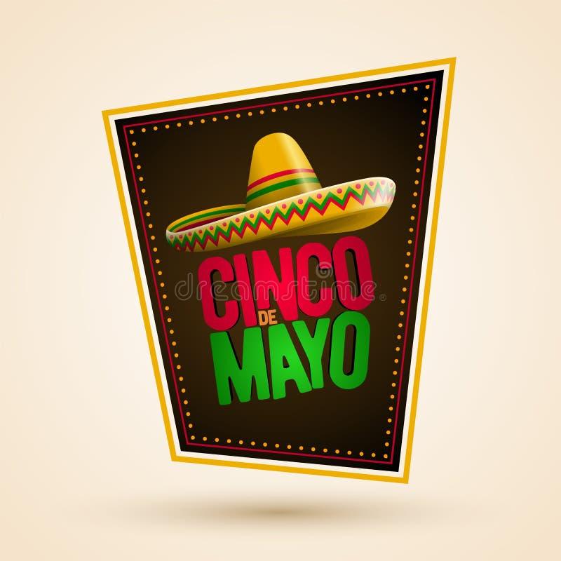 Diseño de Cinco de Mayo libre illustration