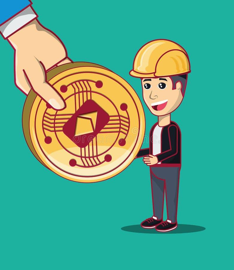 Diseño de concepto de Cryptocurrency stock de ilustración