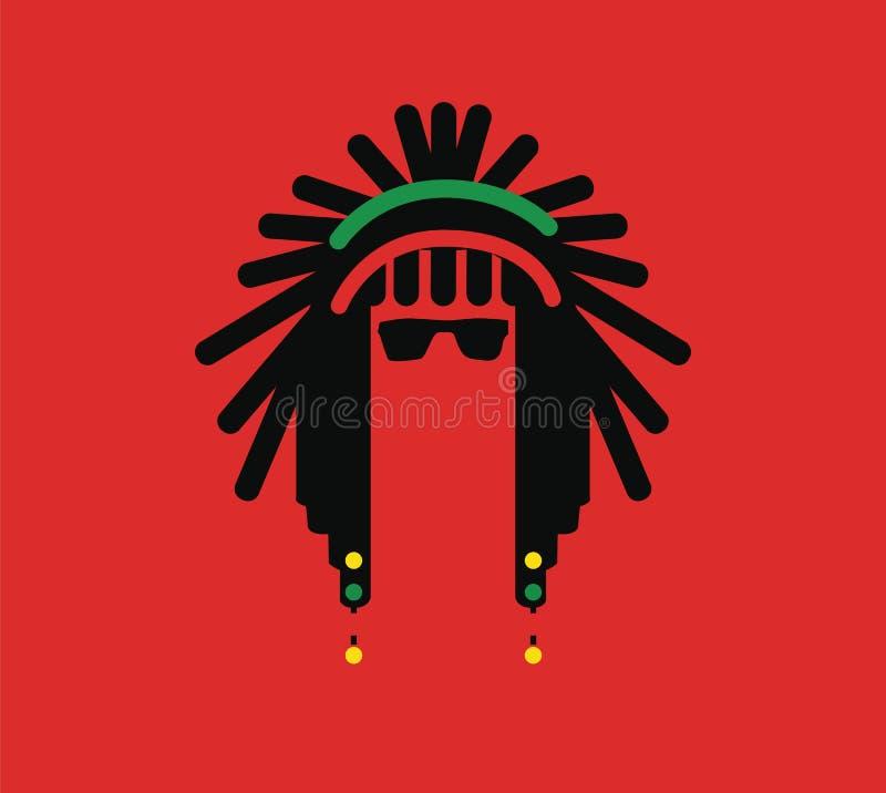 Diseño de concepto de la cultura del reggae ilustración del vector