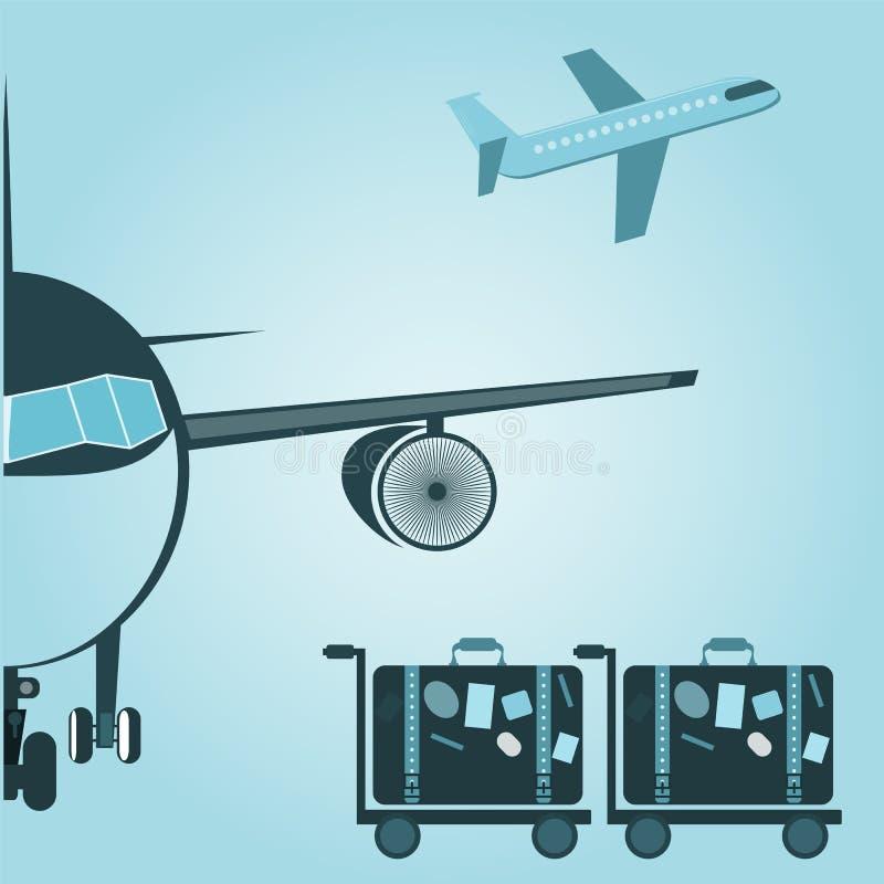 Diseño de concepto de la maleta del aeroplano libre illustration