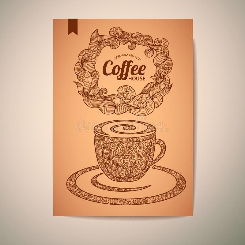 Diseño de concepto del café ilustración del vector