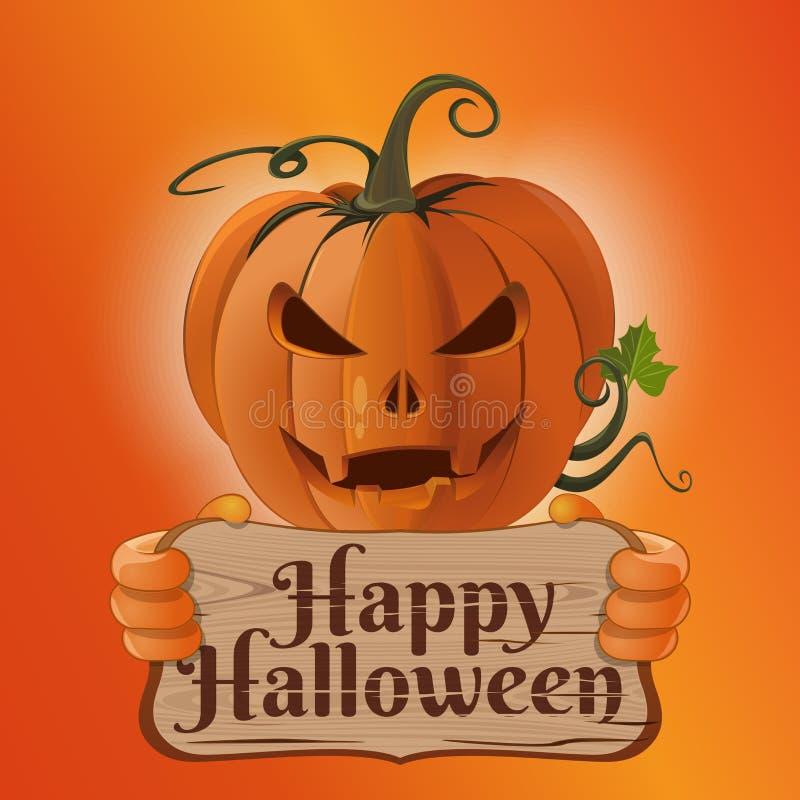 Diseño de concepto del cartel para Halloween Tarjeta del vector ilustración del vector