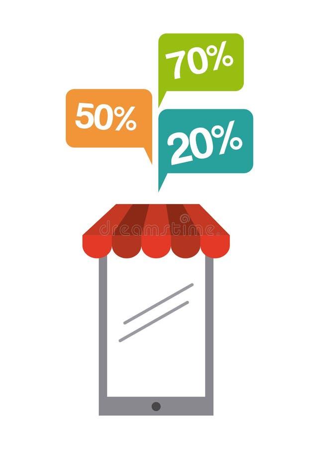 Diseño de concepto del comercio electrónico libre illustration