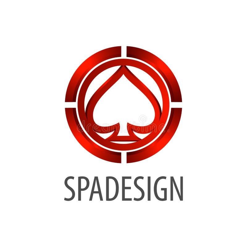 Diseño de concepto del logotipo de la muestra de la espada estilo tridimensional 3D Elemento gráfico de la plantilla del símbolo ilustración del vector