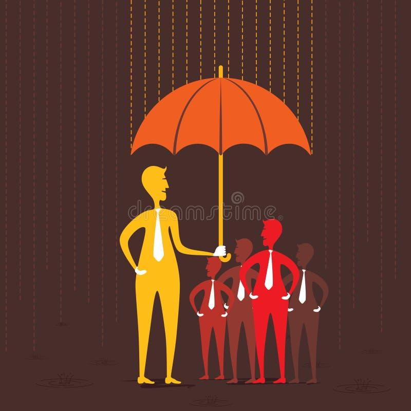 Diseño de concepto del seguro libre illustration