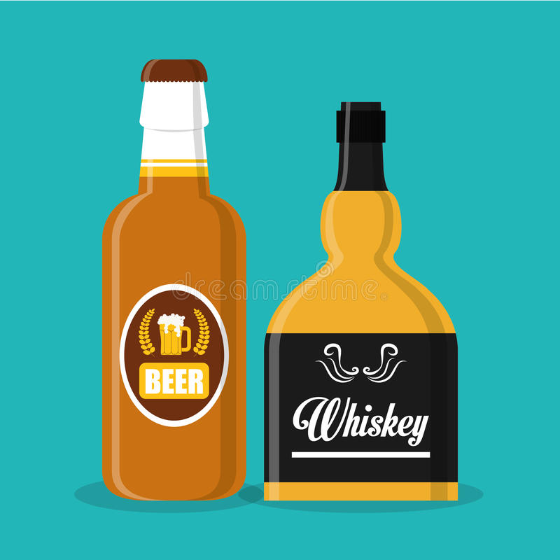 Diseño de concepto del whisky libre illustration