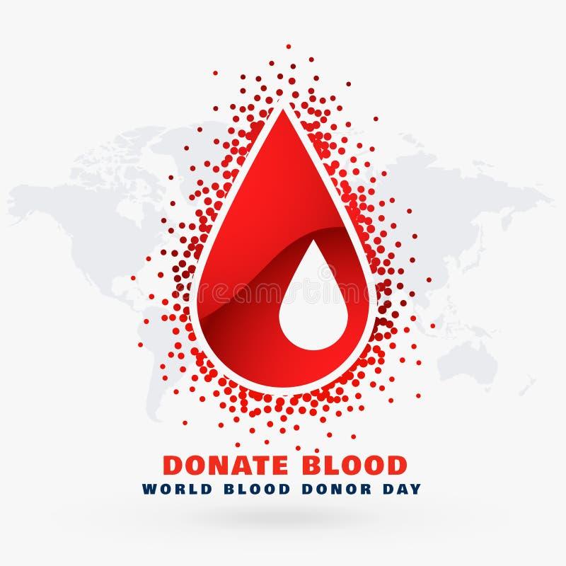 Diseño de concepto dispensador de aceite del día de la gota de sangre stock de ilustración