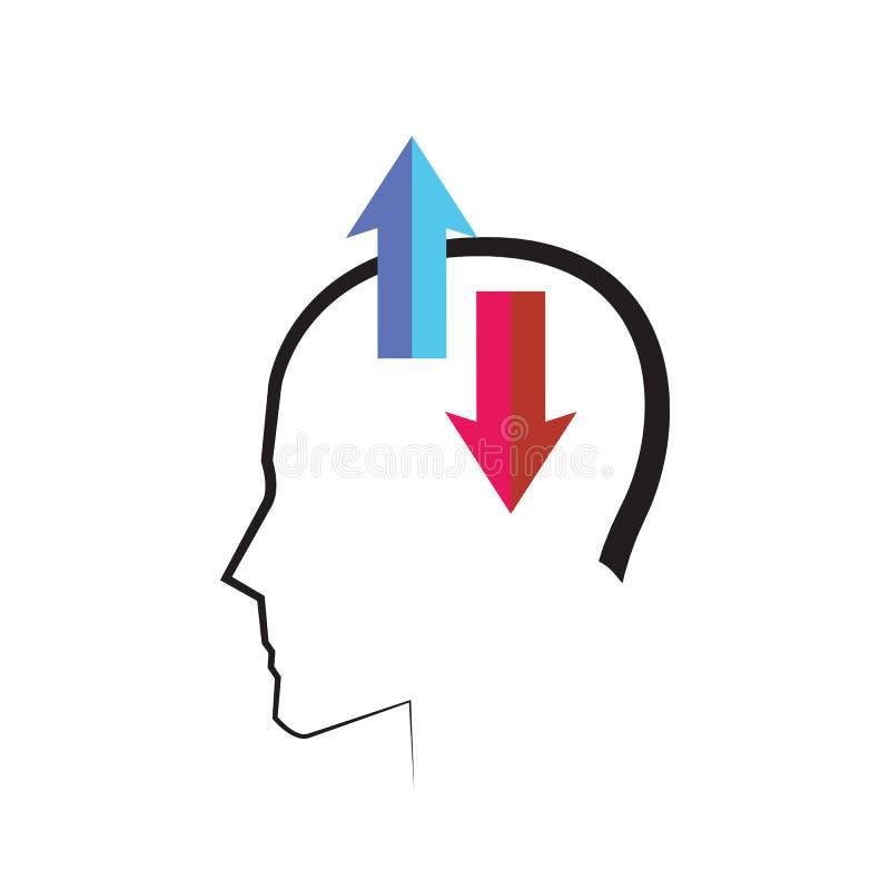 Diseño de concepto mental ilustración del vector