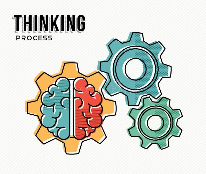 Diseño de concepto moderno de proceso de pensamiento del negocio libre illustration