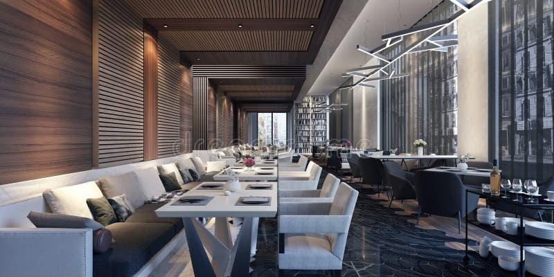Dise o de concepto moderno de sal n del restaurante stock - Diseno salon moderno ...