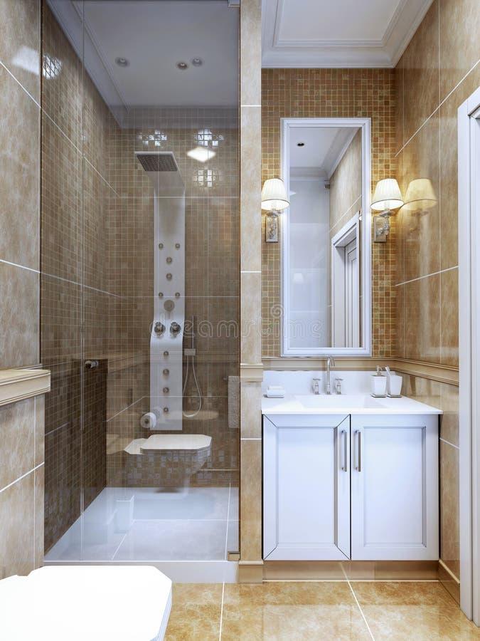 Diseño De Cuarto De Baño Moderno Foto de archivo - Imagen de crema ...