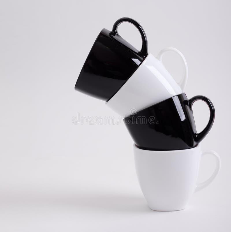 Diseño de cuatro tazas de café fotos de archivo libres de regalías