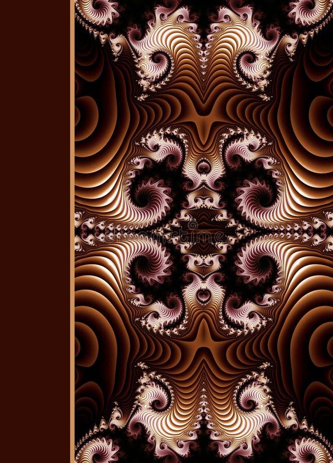Diseño de cubierta ornamental espiral del cuaderno libre illustration