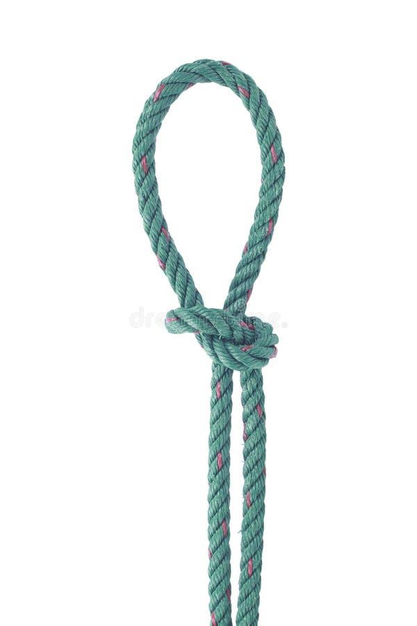 Diseño de cuerda aislado en blanco fotos de archivo