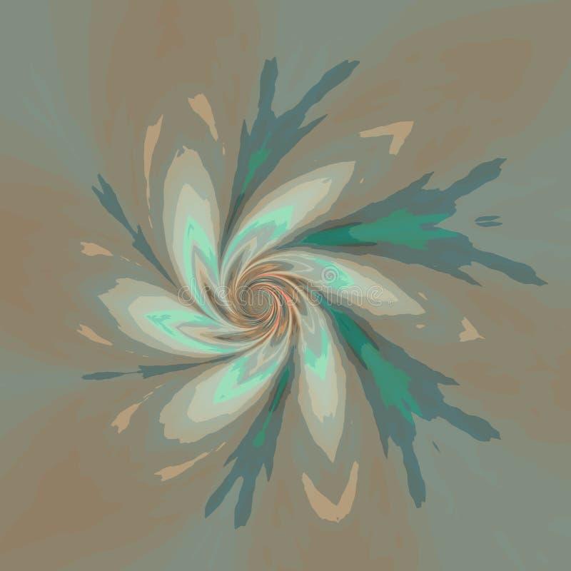 Diseño de desaparición del fondo ilusión óptica Deformación ondulada brillante Elemento moderno de la página web Símbolo del fluj ilustración del vector