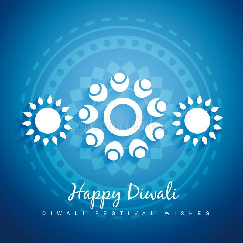 Diseño de Diwali ilustración del vector