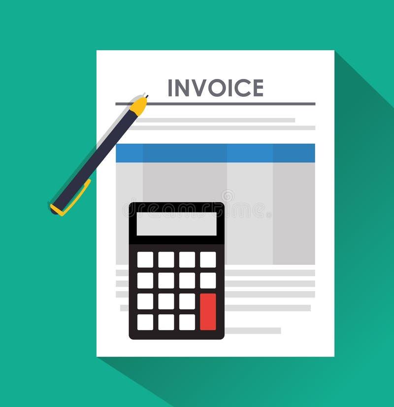 Diseño de documento de la factura libre illustration