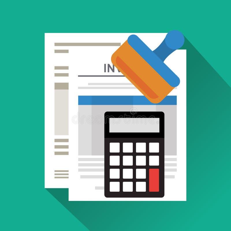 Diseño de documento de la factura ilustración del vector