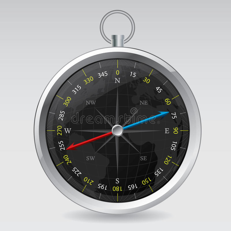 Diseño de Dompass con la correspondencia de mundo stock de ilustración