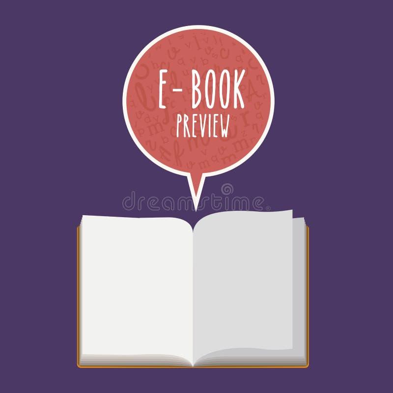 Diseño de EBook ilustración del vector