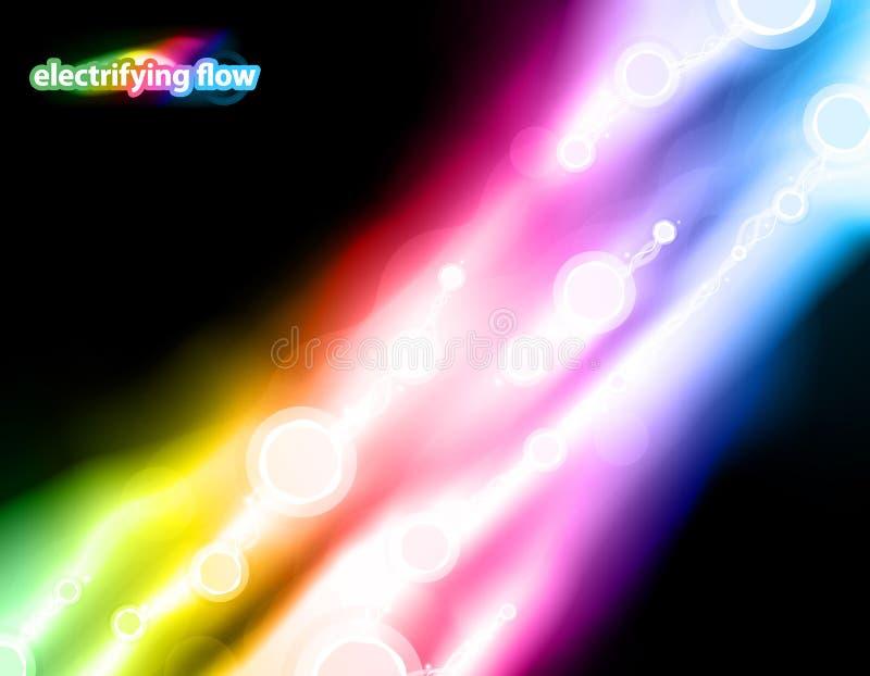 Diseño de electrificación del flujo ilustración del vector