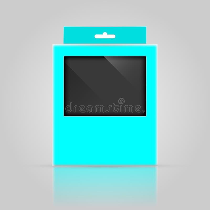 Diseño de empaquetado de la maqueta de la caja foto de archivo