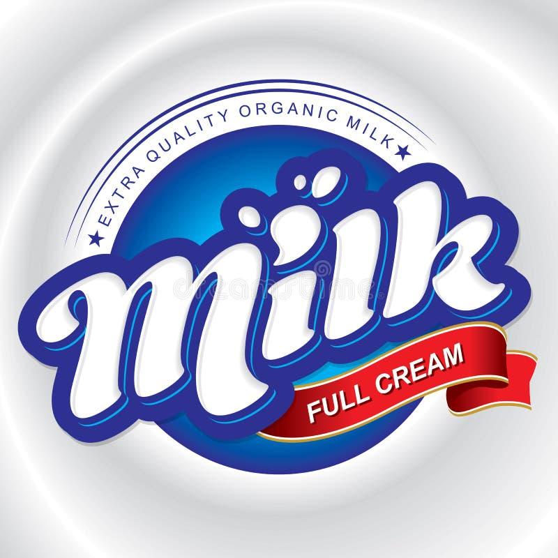 Diseño de empaquetado de leche (vector) imagen de archivo libre de regalías