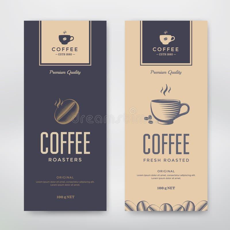 Diseño de empaquetado del café libre illustration
