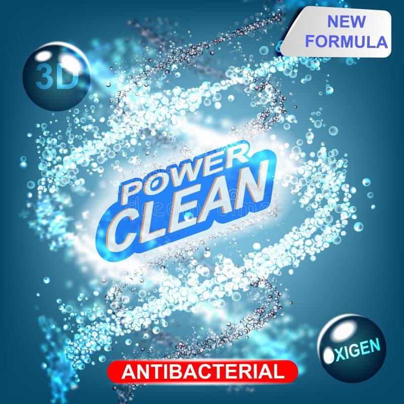 Diseño de empaquetado de la plantilla del vector del detergente para ropa ilustración del vector