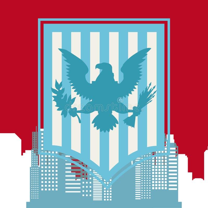 Diseño de Estados Unidos y de Nueva York ilustración del vector