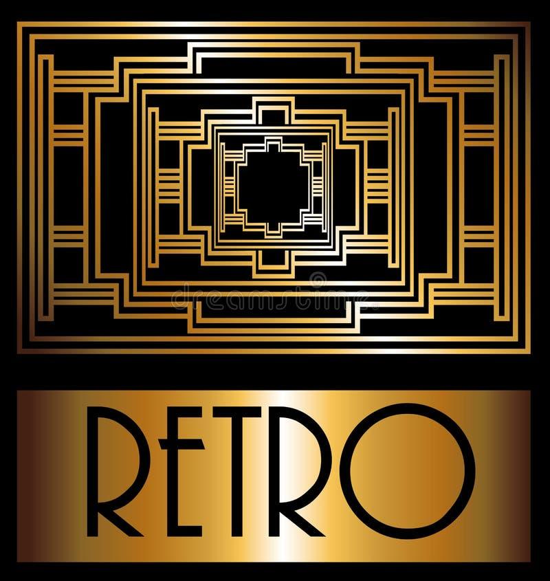 Diseño de Gatsby ilustración del vector