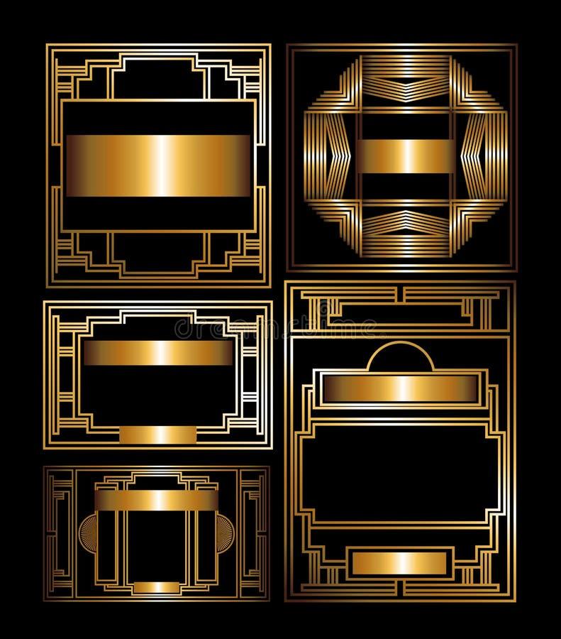 Diseño de Gatsby stock de ilustración