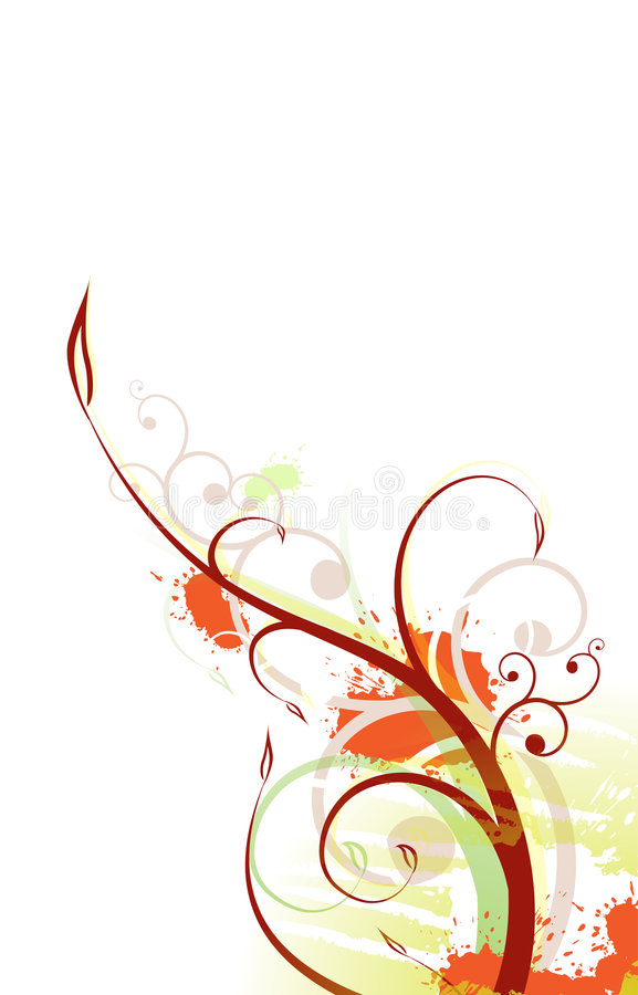 Diseño de Grunge de las flores ilustración del vector