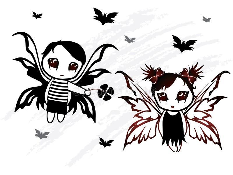 Diseño de hadas del muchacho y de la muchacha libre illustration