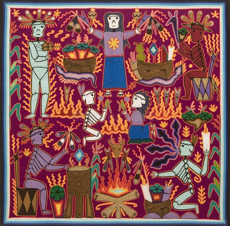Diseño de Huichol de las artesanías fotos de archivo