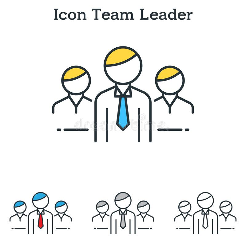 Diseño de icono plano de Team Leader para infografías y empresas ilustración del vector